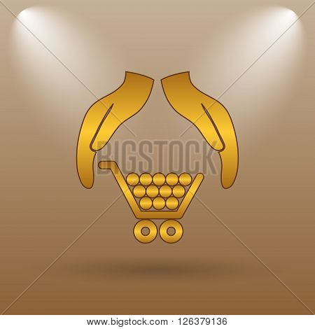 Consumer Protection, Protecting Hands Icon
