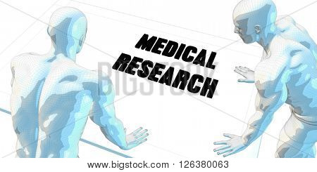 Medical Research Discussion and Business Meeting Concept Art 3D Illustration Render