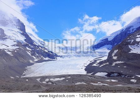 Athabasca Glacier - part of Columbia Icefield. Jasper National Park Alberta Canada