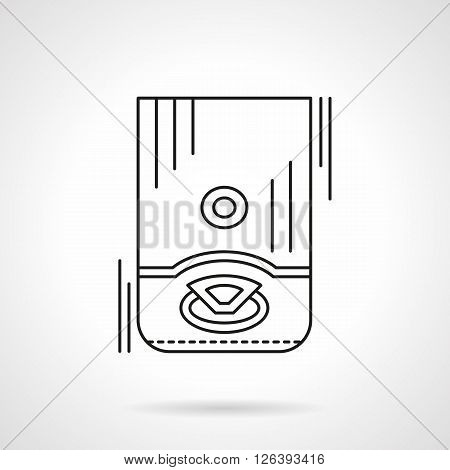 Water boiling and heating equipment. Household appliances. Flat line style vector icon. Single design element for website, business. poster