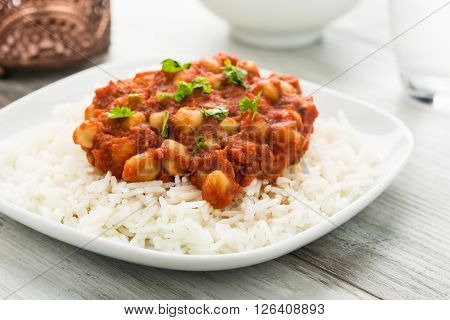 Chana Masala - indian dish with chickpeas.