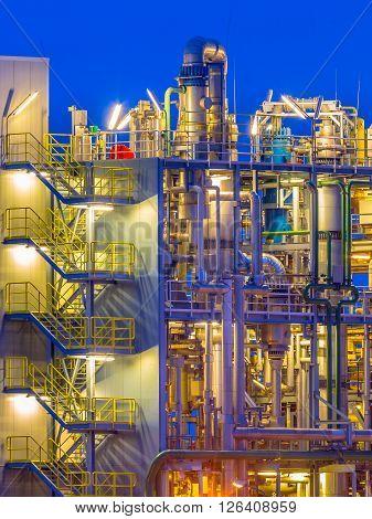 Detail Of A Chemical Plant Portrait