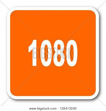 1080 orange flat design modern web icon