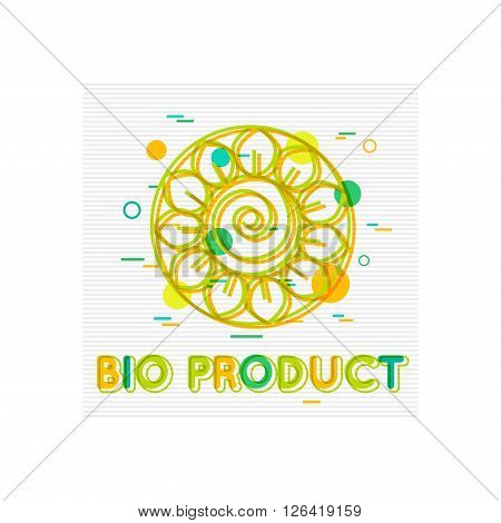 Bio Product Concept. Bio Product  Banner. Bio Product Logo. Bio Product Design. Bio Product background. Flat Style. Vector illustrator.