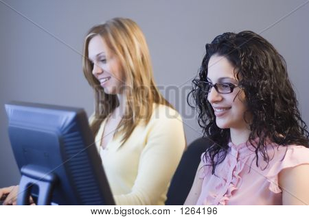 Women At A Workstation
