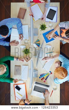Working by table
