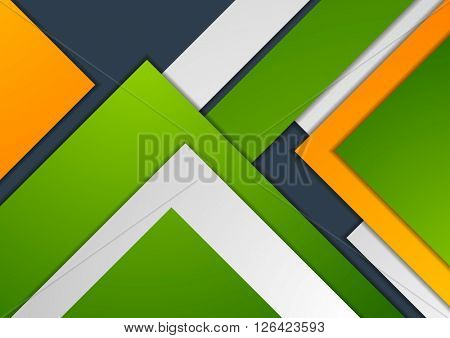 Colorful abstract corporate material graphic design. Vector template corporate tech bright background
