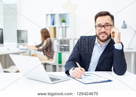 Busy office worker