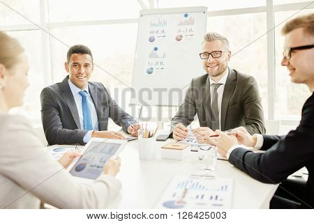 Businessmen at meeting