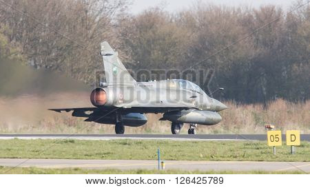 Leeuwarden, Netherlands - April 11, 2016: French Air Force Dassault Mirage 2000N During The Exercise