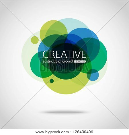 Abstract colorful background. Circle vector design. Circles abstract background. Sumi circle. Round creative background. Vector illustration.