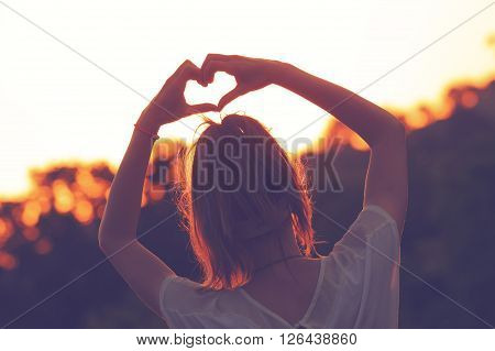 Heart - shape for the nature and good vibes.