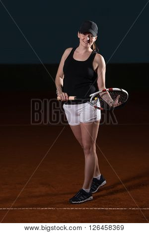 Young Fit Tennis Player
