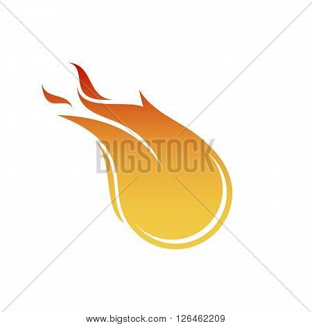 Vector fireball on black background. Eps10. Transparency used. RGB. Organized by layers. Global colors. Gradients used