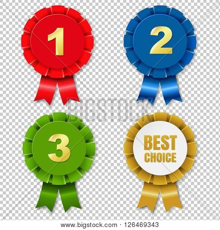 Color Rosette Set, Isolated on Transparent Background
