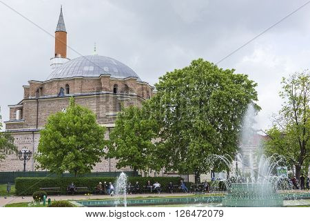 Sofia, Bulgaria - April 14: The Banja Baschi Mosque, Landmark And Biggest Mosque In April 14, 2016