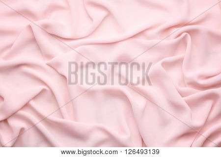 pink wrinkled silk cloth