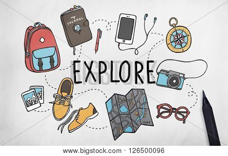 Explore Exploration Travel Journey Backpacker Concept