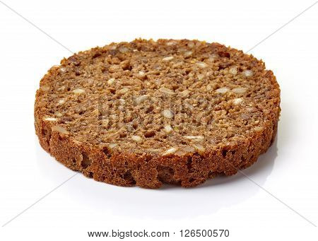 Slice Of Multi Grain Bread Isolated On White