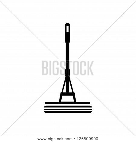 Mop cleaning icon in flat style. Vector illustration. Vector symbols.
