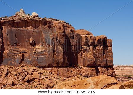 Red Eroded Rock