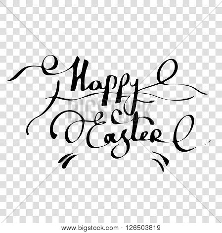 Happy easter happy easter handwritten hand lettering happy easter design happy easter text graphic design easter text easter sunday easter day transparent template easter background vector illustration