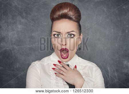 Surprised Indignant Woman