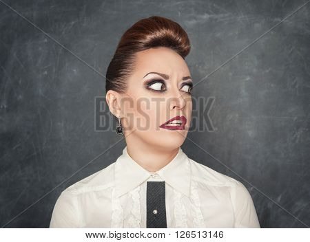 Woman With A Fear Expression
