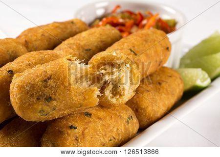 Salt Cod Fritters.