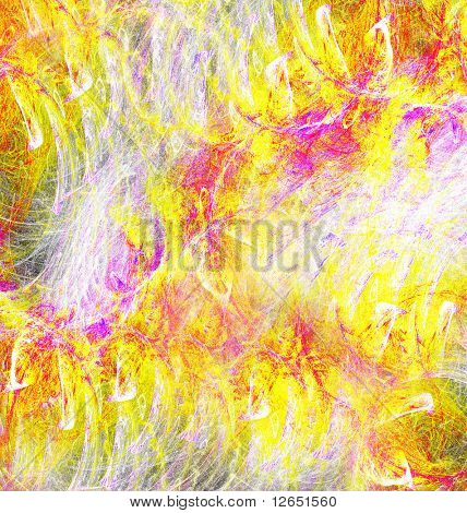 """yellow mess abstract image  - See similar images of this """"Digital Art"""" series in my portfolio poster"""