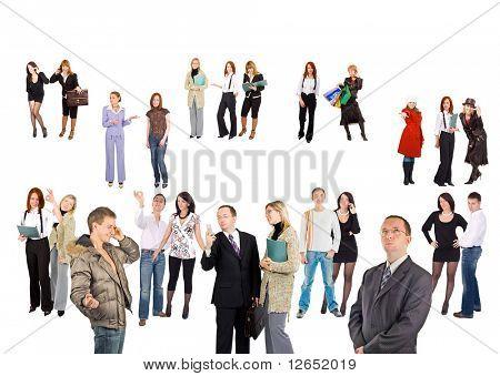 Menge von kleinen Gruppen und einzelne Menschen - Siehe ähnliche Bilder dieser Serie