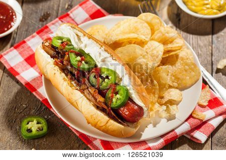Homemade Seattle Style Hot Dog