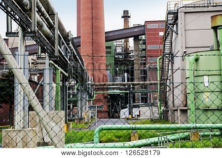part of a power plant fired with lignite concept for economic growth energy and environmental pollution