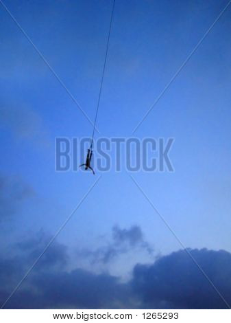 Bungee Jumping At Dusk