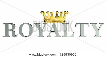 Royalty concept 3D rendering isolated on white background