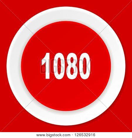 1080 red flat design modern web icon