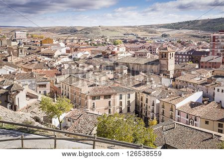 a view over Molina de Aragon city, Guadalajara, Spain