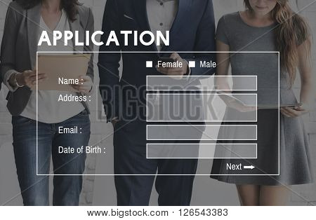 Application Identify Apply Online Form Concept