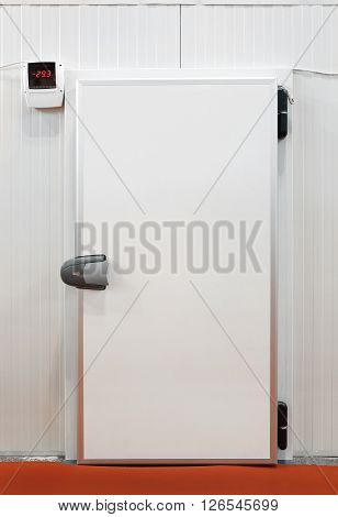 Insulated Door at Commercial Refridgerated Storage Reefer Fridge