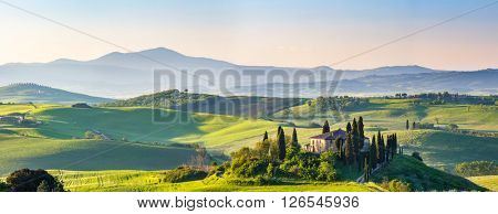 Beautiful spring landscape in Tuscany, Italy