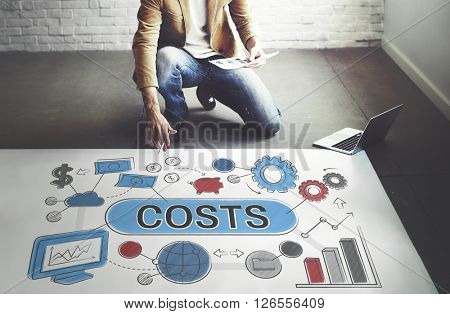Costs Expenditures Finance Budget Bookkeeping Concept