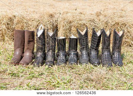 Crocodile Cowboy Leather Boots