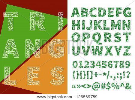 Triangle Mesh Alphabet