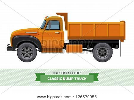 Classic Dump Truck Side View