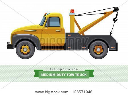 Classic Medium Duty Tow Truck Side View