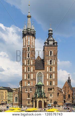 Mariacki Church, Church Of Our Lady In Krakow