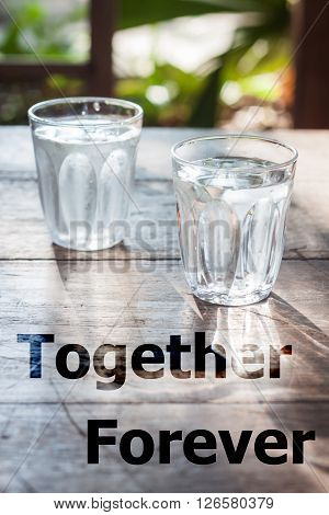 Together forever inspirational quote design stock photo
