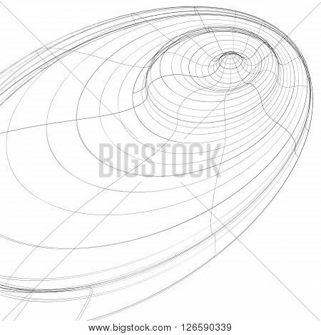 3D mesh modern stylized abstract background monochrome geometric futuristic symbol with lines mesh. Engineering backdrop can be used in web and graphic design.
