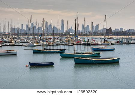 St Kilda with the city of Melbourne in the background
