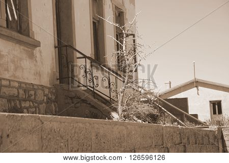 Luderitz Vacation house holiday abandoned building structure architecture